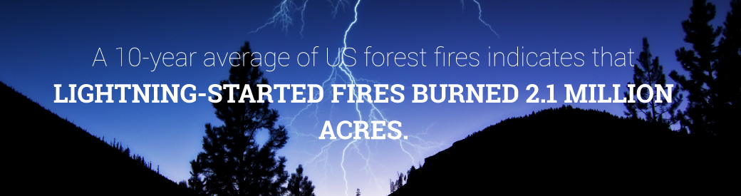 wildfires started by lightning